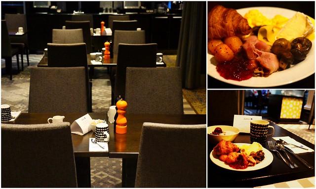 Eating breakfast at the Radisson Blu Helsinki
