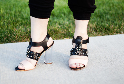 Sam Edelman Yara Lucite Heel Sandals