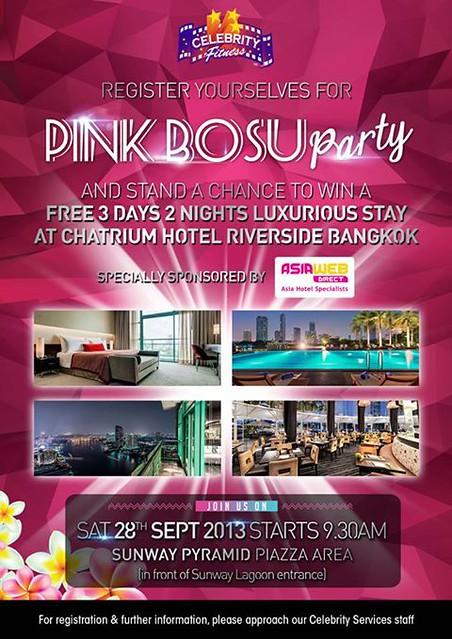 pink bosu party - rebecca saw