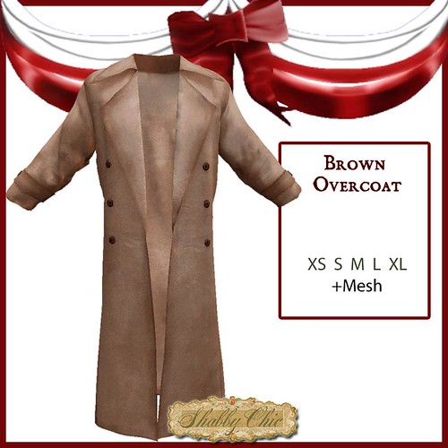 Shabby Chic Brown Duster Overcoat by Shabby Chics