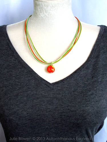 Pumpkin & Vines Necklace