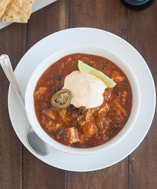 Pork, Pumpkin, and Black Bean Chili