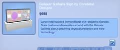 Galaxar Galleria Sign by Corebital Designs