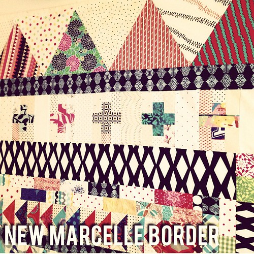 #new #marcellemedallion border to lengthen #libertlove #mmqal #patchwork #sew #sewing