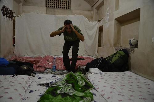 Nuestra cuadra habitación en el Oasis Hotel de Yazd