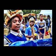 Queensborough Elementary School Drum Corp and Flag Line #unscene #makeraparade #srac