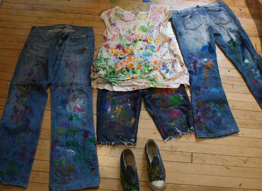 Studio 632f blog of tiffany gholar chicago based artist for Paint on clothes
