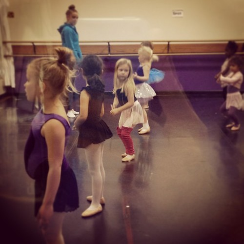 Sadie Piper rocking her leg warmers in dance class!