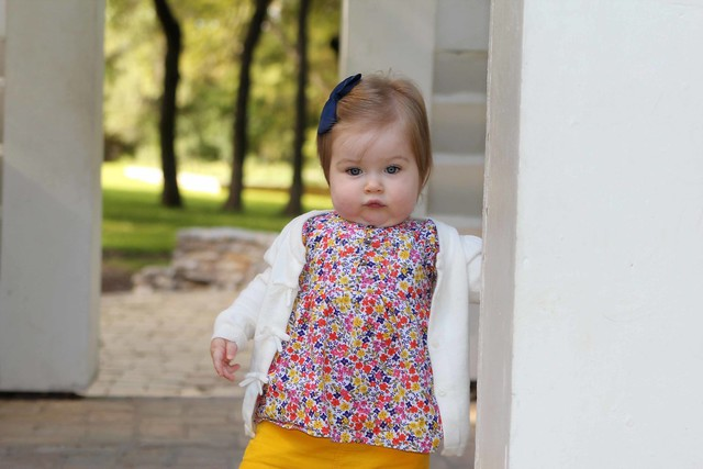Harper at the botanical gardens