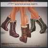*League* Winter Wedge Boots