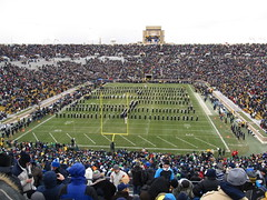 "Band of the Fighting Irish Spelling ""I-R-I-S-H"", Notre Dame Stadium, University of Notre Dame, South Bend, Indiana"