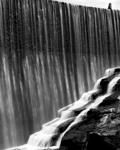 newzealand blackandwhite bw water matt flow blackwhite waterfall movement aperture matthew dam alexandra elements nz centralotago epson 4x5 ilford fp4 largeformat quintin toyo 125asa toyoview v700 mccutcheon ilfotec manorburn fujinonw l358