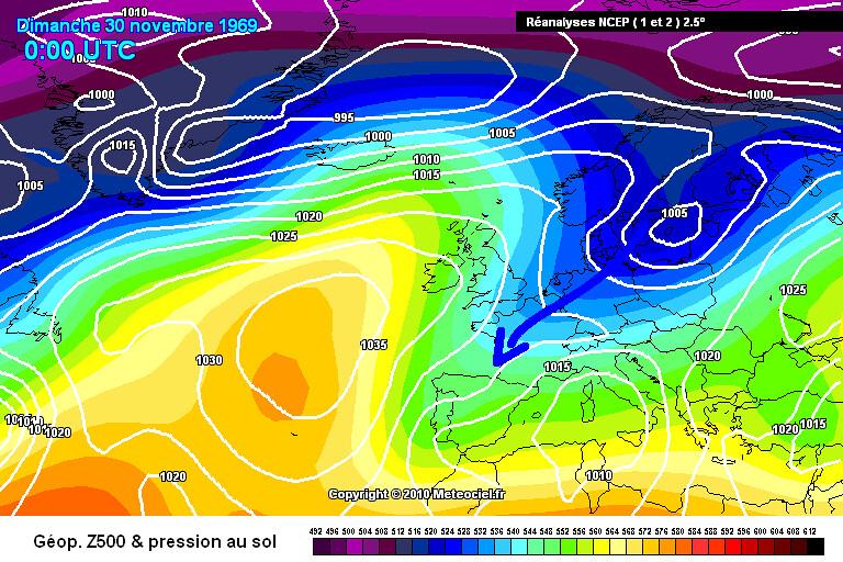 carte de situation du record mensuel absolu de froid à Mouthe le 30 novembre 1969 météopassion