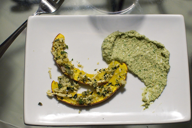 herb-crusted pumpkin