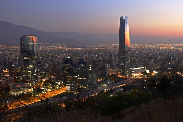 Santiago de Chile at night