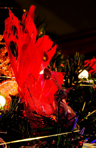 Red Peacock Tree Decoration
