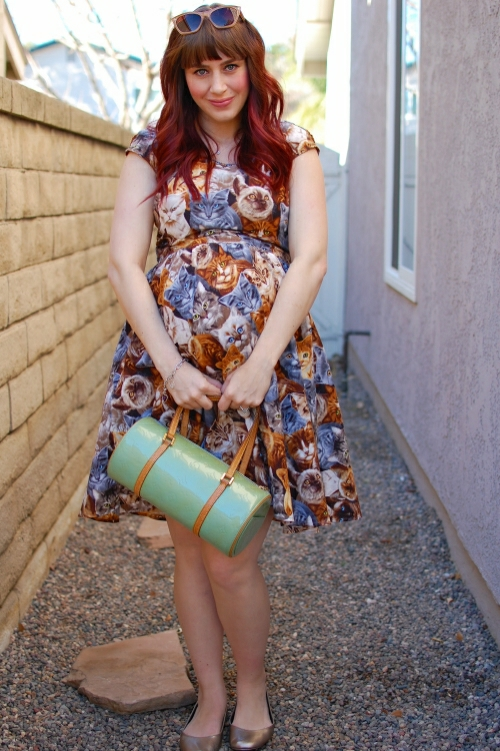Modcloth Retrolicious Hooked on a Feline dress