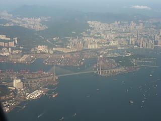 201311113 CX743 HKG-RUH Hong Kong harbour