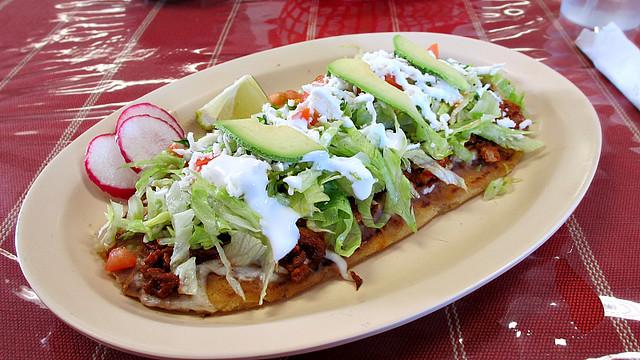 Huarache from Mi Tierra Restaurant & Taqueria in Des Moines, Iowa