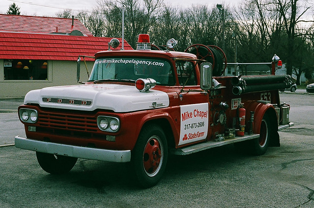 Ford F-500 fire truck