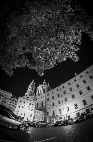 Malostranské nám., Prague by Zdenek Papes