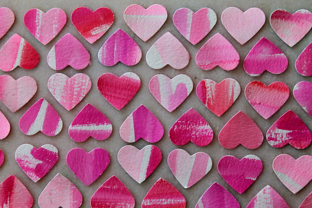 Watercolor Hearts {diy}