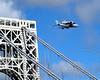 """Intrepid"" Space Shuttle Enterprise flies past the George Washington Bridge, New York City by jag9889"