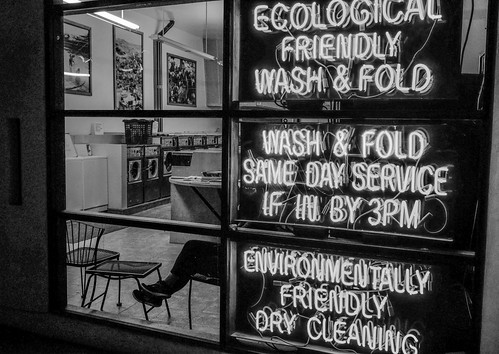 Wash & Fold (black and white) by joeeisner