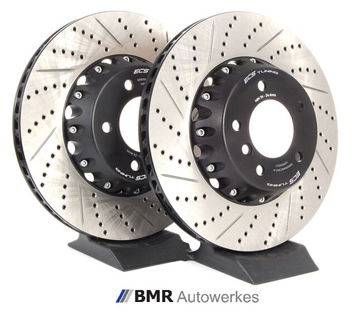 Rear Rotors w//Ceramic Pads Premium Brakes 2004 05 06 07 08 09 2010 BMW X3