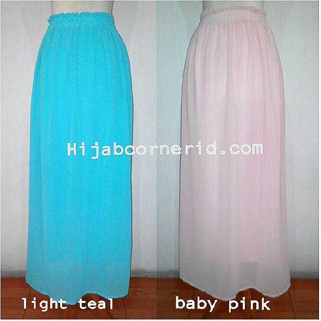 Hijab Corner ID Blog Basic Skirt Chiffon