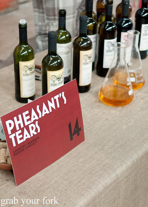 Pheasant's Tears from Kakheti, Georgia at the Rootstock Sydney 2014 Wine Festival