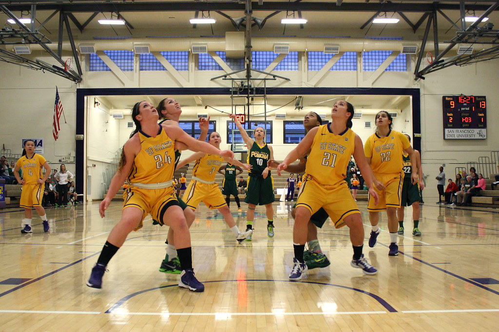 Cal Poly Pomona Bronco Ariel Marsh (10) shoots a free-throw during the women's basketball game at The Swamp Tuesday, Feb. 15. Photo by Tony Santos / Xpress
