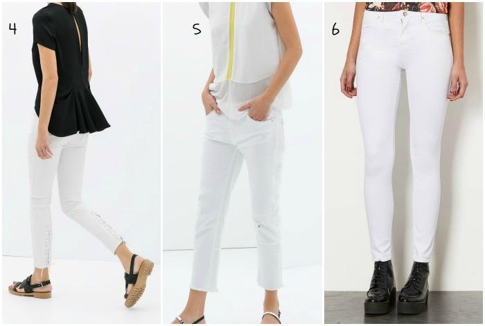 pantalones blancos