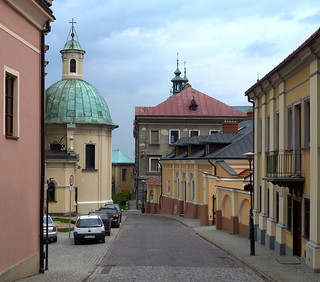 Alley in the old Przemysl - entry to the top of the castle