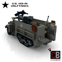 LEGO Custom WW2 M3 A1 Halftrack CB2