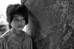 A Cambodian Child At Angkor Wat