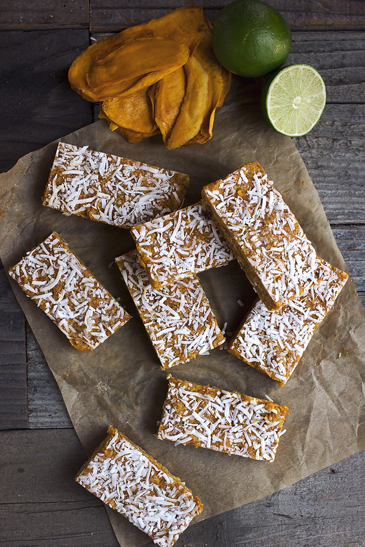 Coconut Mango Lime Energy Bars