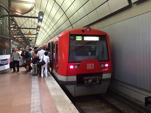 DB s bahn at Hamburg airport terminal 1 line is s1