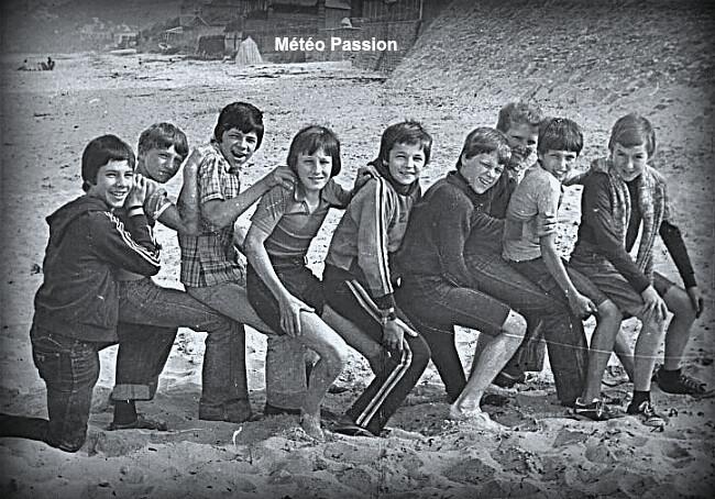 fraîcheur sur une plage lors de l'été pourri de 1978 météopassion