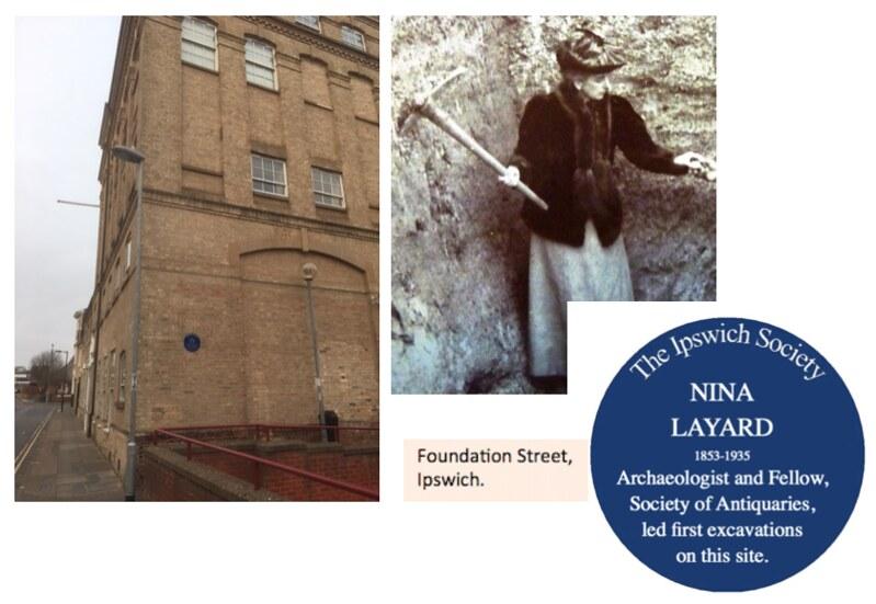 NINA LAYARD (1853–1935) Unicorn House Foundation Street, Ipswich.
