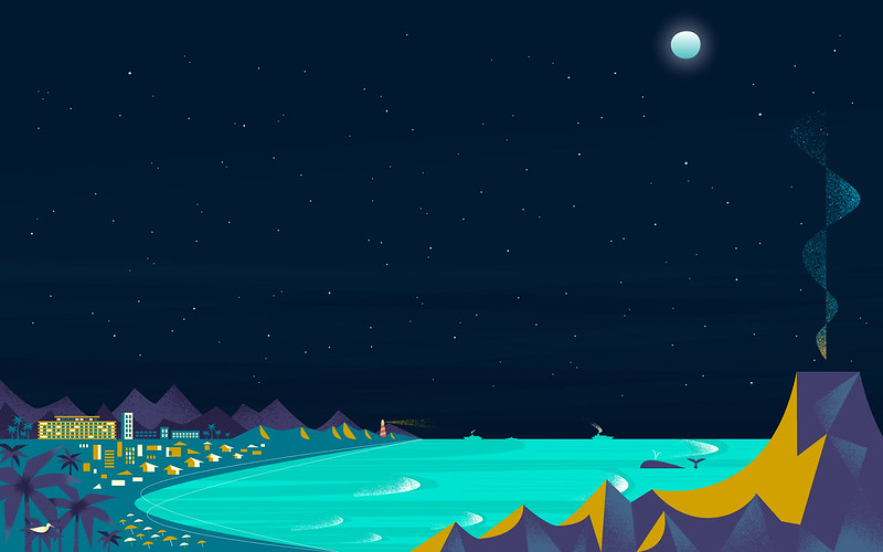 Google Now Beach Night Wallpaper