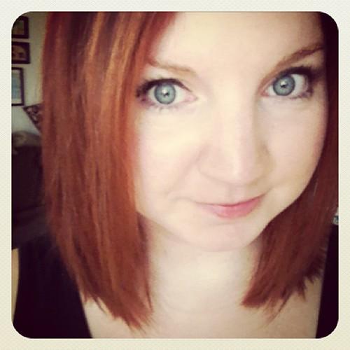 Goodbye hair... #redhead #lob