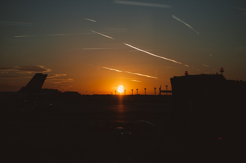 Sunrise at Frankfurt Airport