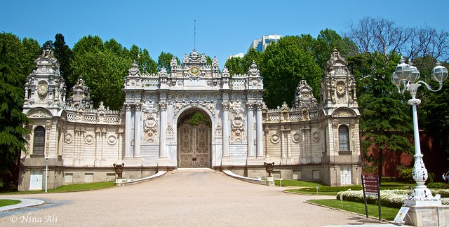 Dolmabahçe Palace gardens   Flickr - Photo Sharing!