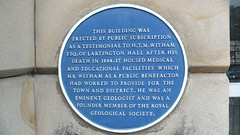 Photo of H. T. M. Witham blue plaque
