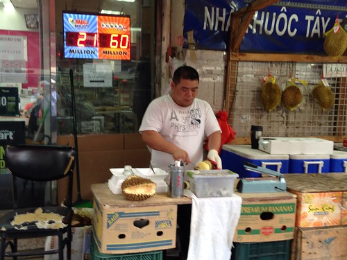 Preparing durian (fruit), LES/Chinatown