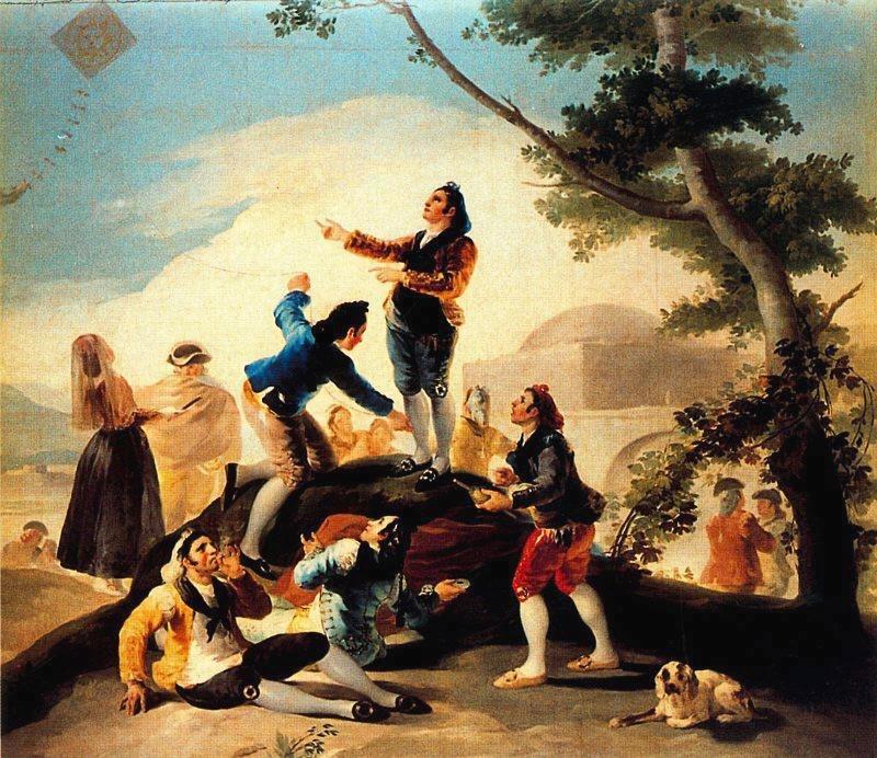 La cometa. Francisco de Goya. Óleo sobre lienzo, 1778