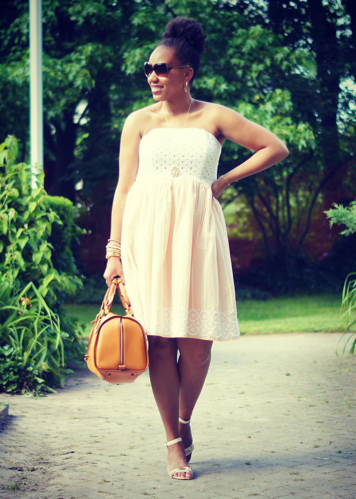 Strapless Eyelet Dress2