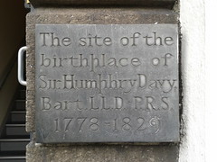Photo of Humphry Davy slate plaque