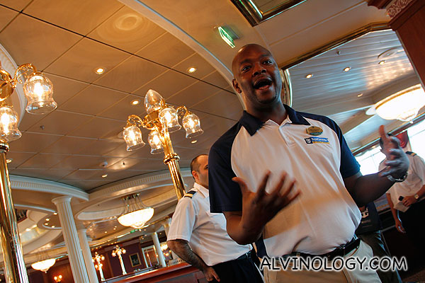 The animated and very likable cruise director